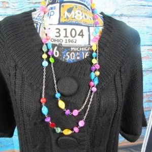 Jewelry - Double Strand Chain and Bead Necklace